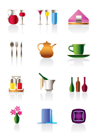 Cafe bar and restaurant icons  Stock Vector - 12997333