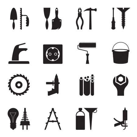 Werkzeuge und Geräte für Bau Standard-Bild - 13312452