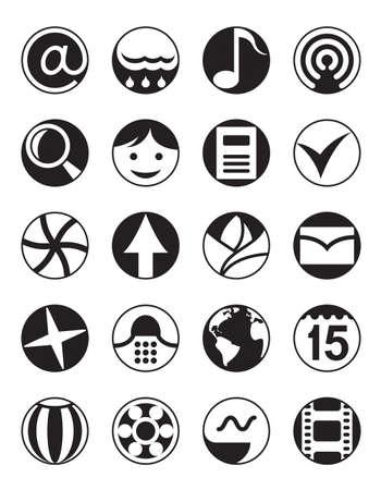 phone calls: Smartphone menu icons set