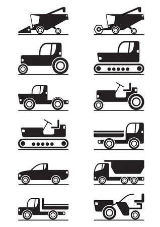 cosechadora: Ilustraci�n de la maquinaria agr�cola