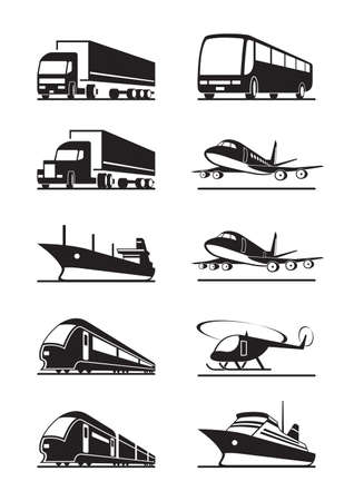 freight train: Passenger and cargo transportations Illustration