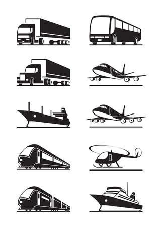 train icone: Transports de passagers et de fret Illustration