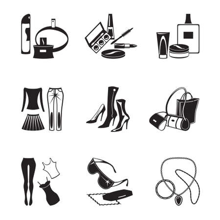 Fashion garments and accessories Vector