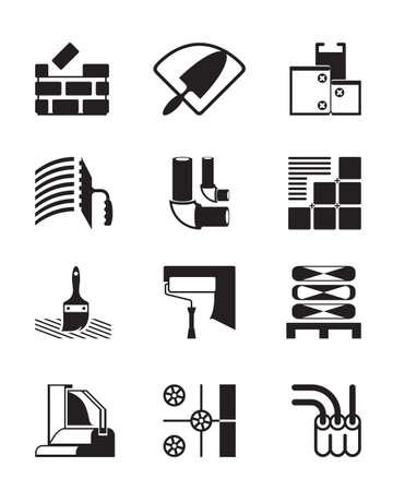 Baustoffe und Werkzeuge - illustration