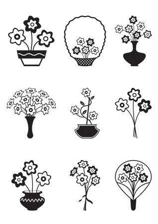 Bouquets of flowers - vector illustration Vector