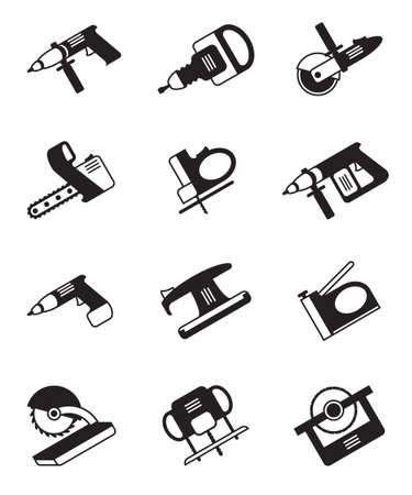 drilling machine: Power tools for construction - vector illustration Illustration