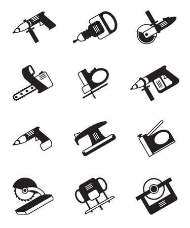 tool icon: Utensili elettrici per la costruzione - illustrazione vettoriale Vettoriali