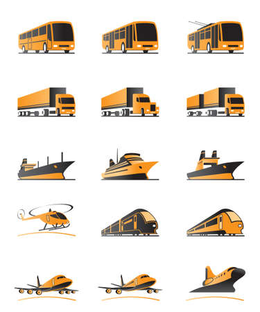 Passenger and cargo transportation Vector