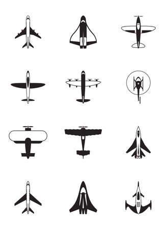 helicopter: Different aircrafts -  illustration