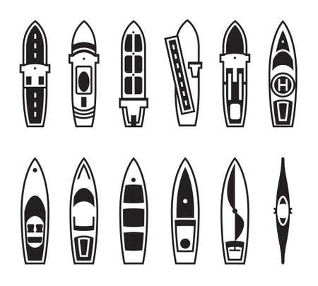 transporteur: Les navires de mer et bateaux de ci-dessus Illustration