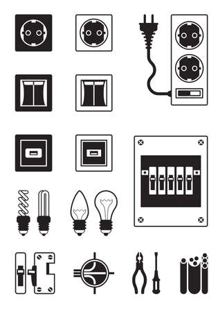 Electrical network devices  Stock Vector - 18172213