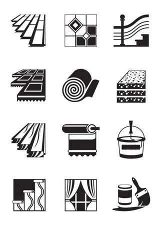 Materiały do dekoracji wnętrz - ilustracji wektorowych Ilustracje wektorowe