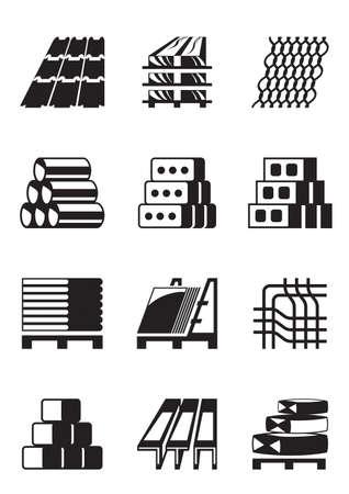 Budowlane i materiały budowlane Ilustracje wektorowe