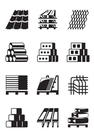 Building and construction materials Vector