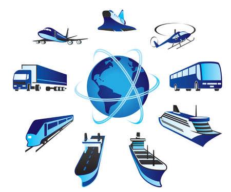 air freight: Passeggeri e merci trasporti Vettoriali