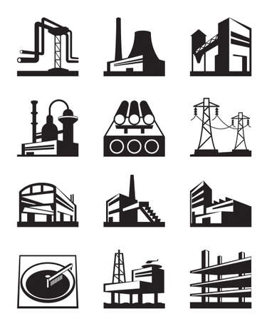 factory: Different types of industrial construction