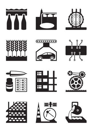 food industry: Light and heavy industry - vector illustration