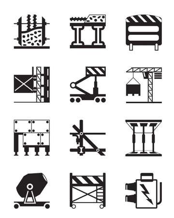 falsework: Construction equipment and materials