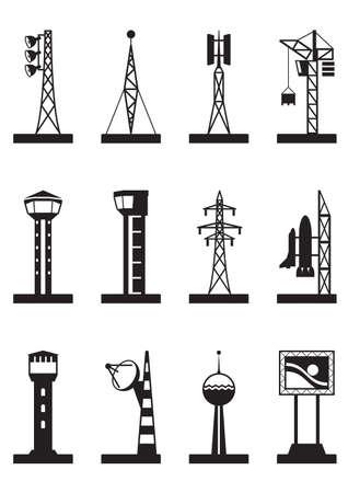 Industriële toren en masten