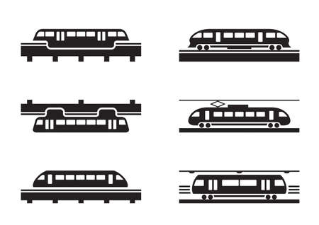 High-speed rail trains  Vector