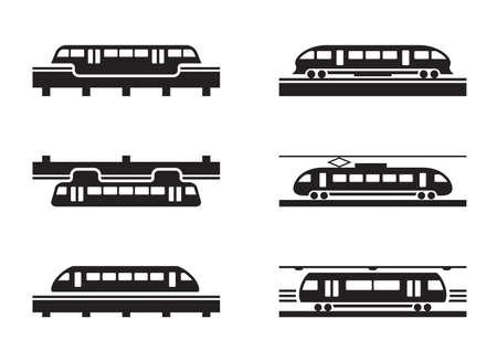 subway road: High-speed rail trains