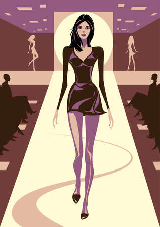 Fashion models on review illustration