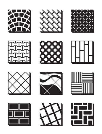 caoutchouc: Various external building surfaces