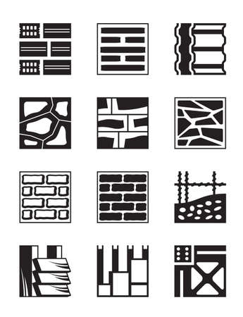 Diversos materiales de construcción - ilustración vectorial Foto de archivo - 23110345