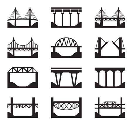Différents types de ponts - illustration vectorielle