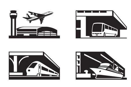 Las estaciones del transporte público en la perspectiva Foto de archivo - 23111215