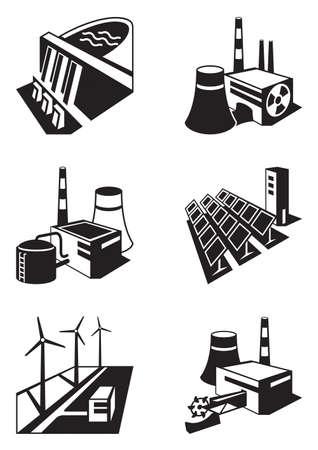 別の発電所 - ベクトル イラスト