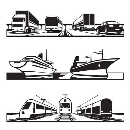 Global Transport set - vectorillustratie Vector Illustratie