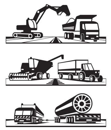 cosechadora: Construcci�n y transporte agr�cola