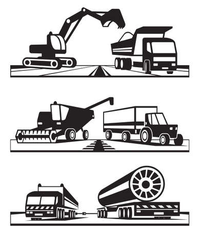combine harvester: Construction and agricultural transportation