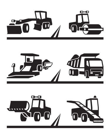 road grader: Road construction machinery