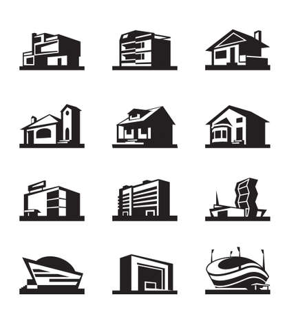 Various types of construction  Stock Illustratie