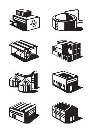 産業および商業倉庫  イラスト・ベクター素材