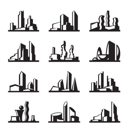 modern buildings: Les b�timents modernes set - illustration vectorielle