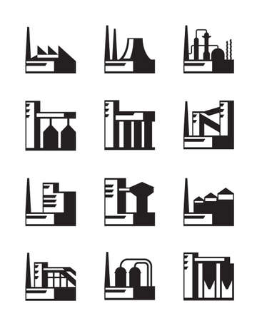 Industrial construction set - vector illustration Vector