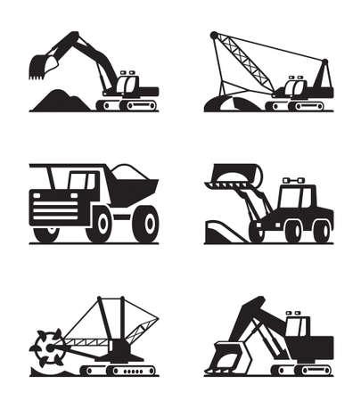 Construcción pesada y equipos minning Foto de archivo - 27484901