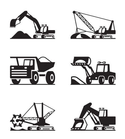 mining: Heavy construction and minning equipment