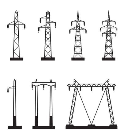 electrical wires: Electrical transmission tower types