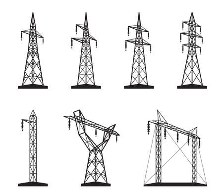 transmission line: Electrical transmission tower types in perspective