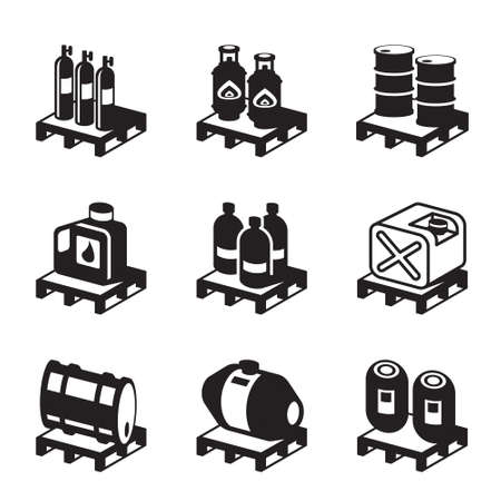 Oil, gas and chemical products - vector illustration