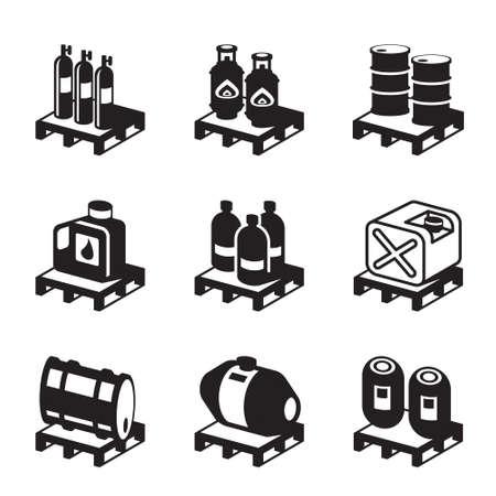 productos quimicos: Los derivados de petr�leo, gas y qu�micos - ilustraci�n vectorial Vectores