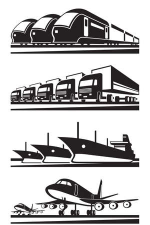Large cargo transportation - vector illustration Vector