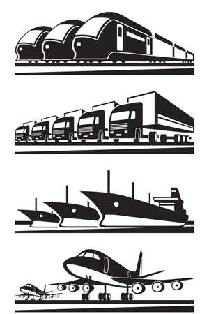 Large cargo transportation - vector illustration Vector