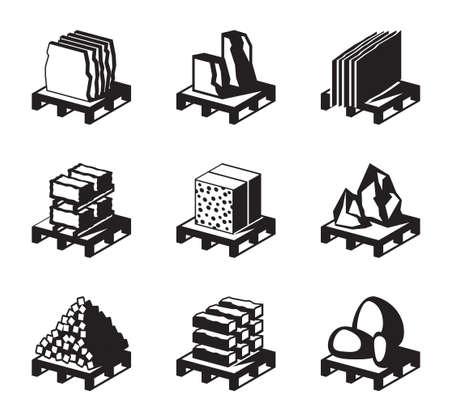 materiali edili: Vari materiali da costruzione Vettoriali