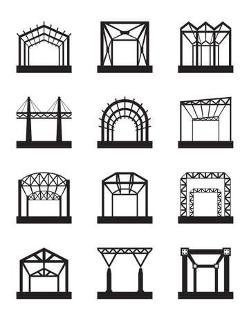 Metallkonstruktionen icon set