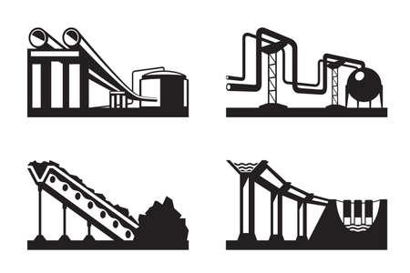 ressources naturelles: Entrep�ts des fins d'illustration des ressources naturelles